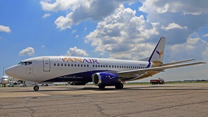 Украинская авиакомпания YanAir (Ян Эйр)
